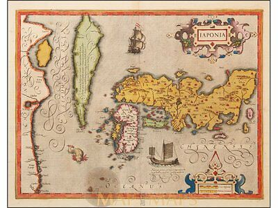 Japan Korea antique Old map of IAPONIA by Mercator 1623