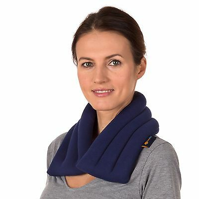 Refurbished Microwavable Extra Long 6x24 Heated Neck Wrap Navy Blue Moist Heat