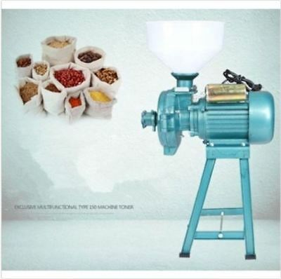 220V Corn Grain Animal Poultry Rice Wheat Wet Dry Grinder Electric Feed Mill F