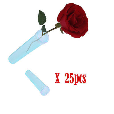 25pcs handy plastic tubes For Fresh Flower Water Container Flower Stem Tube