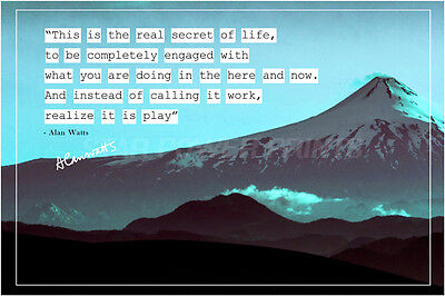 Alan Watts Quote Art Photo Print Poster No 3 - 12 X 8 Inch (A4) Top Quality