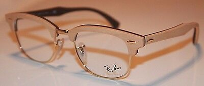 RAY BAN CLUBMASTER EYEGLASSES RX5154 5558 GOLD MAPLE 51mm RB5154M ITALY NEW