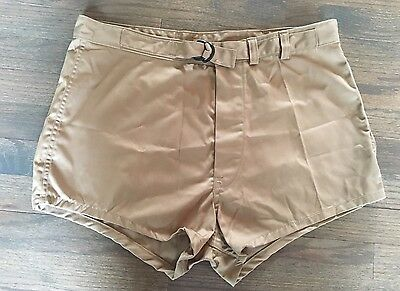 """Vtg UNICOR US Navy Seal Divers Trunks Swimmers Military Beefcake Shorts 34"""""""