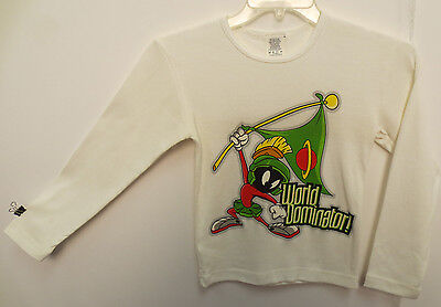 Marvin The Martian Youth Small Shirt Vintage Looney Tunes World Domination Space
