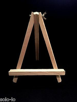 4  x Small Timber Easel Display wood wooden Stand 24 cm New
