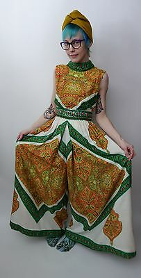 Vintage 1960s 70s palazzo jumpsuit by Roger Milot for Fred Perlberg psychedelic