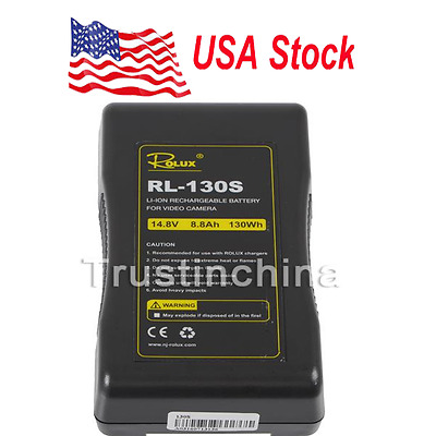 Rolux RL-130S 130Wh Li-ion Sony V Lock V-Mount Battery Rechargeable DSLR Camera