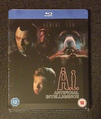 A.I. ARTIFICIAL INTELLIGENCE Blu-Ray SteelBook Zavvi UK Exclusive 1/2500 New OOP