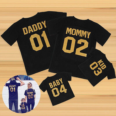 Family Matching Tops DADDY MOMMY KID BABY Shirt Cotton T-shirt Couple Clothes ii