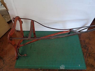 Vintage saddle rack, screwed to wall or post, horse riding