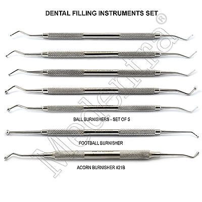 Amalgam Ball Burnisher Dental Kit to Smooth Amalgam After Condensing-Contouring