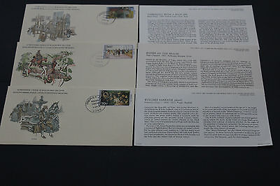 Togo Great Art Stamps Of The World Series First Day Covers X 3 Lim Edition