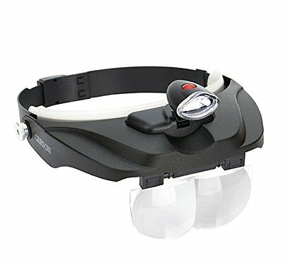 Carson Pro Series MagniVisor Head Worn LED Lighted Magnifier with 4 (v9g)