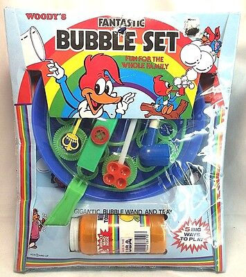 Imperial Vintage 1982 Woody Woodpecker Fantastic Bubble Set Factory Sealed