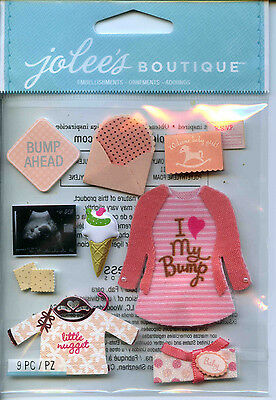 "Jolee's Boutique ""BABY GIRL PREGNANCY"" Dimensional Scrapbooking Stickers - K47"