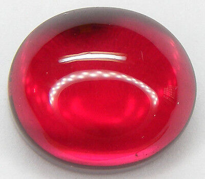 22.39CT. GORGEOUS OVAL CABOCHON 16x14 MM. PIGEON BLOOD RED RUBY LAB CORUNDUM