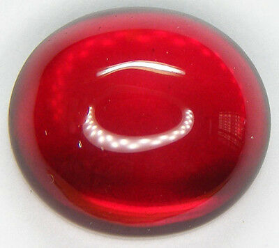 31.00CT. GORGEOUS OVAL CABOCHON 18x16 MM. PIGEON BLOOD RED RUBY LAB CORUNDUM