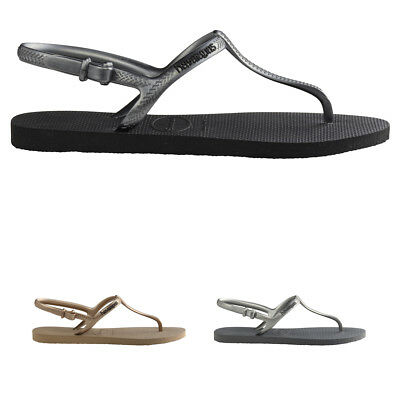 ad591ff70797 Ladies Havaianas Freedom Beach Toe Post Casual Ankle Strap Flip Flops All  Sizes