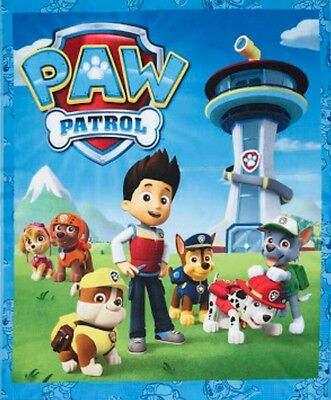 Paw Patrol Quilt Panel * New * In Stock * Free Post *