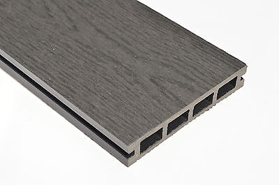 SAMPLE - Wood Plastic Composite Decking 140mm x 25mm NEW Woodgrain Graphite Grey