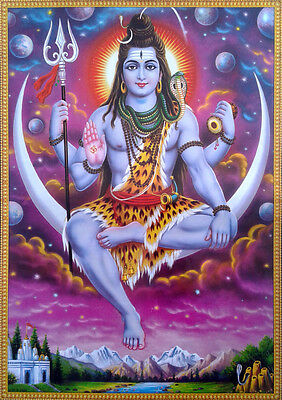 "Lord Shiva Sits on the Moon - Beautiful POSTER (Big Size: 20""x28"")"