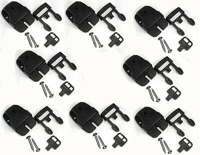 8 Spa Hot Tub Cover Broken Latch Repair Kit Clip Lock with key and hardware