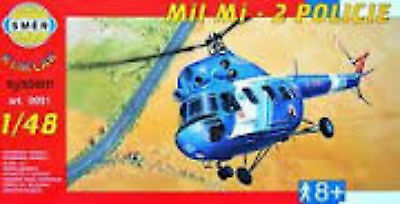 "Smer Plastic Model Kit 991 ""Helicopter mi 2 Police"" SCALE 1/48"