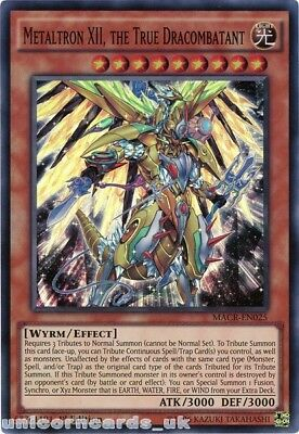MACR-EN025 Metaltron XII, the True Dracombatant Super Rare 1st Edition Mint YuGi