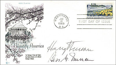 Harry S Truman - First Day Cover Signed Co-Signed By: First Lady Bess W. Truman