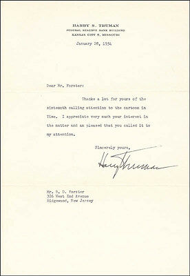 Harry S Truman - Typed Letter Signed 01/28/1954