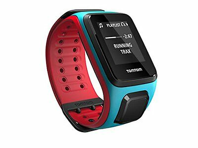 TomTom Runner 2 Music - sport watches (Blue, Red, Water resistant, 40 m, (E3p)