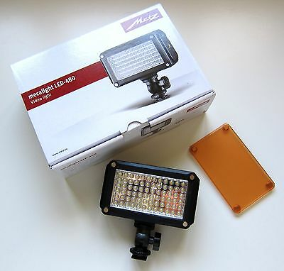 Metz Mecalight LED 480 video photography light compact adjustable & filter