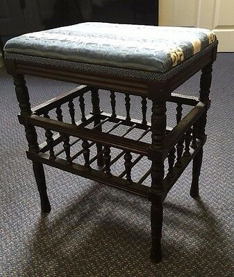 Antique Edwardian Victorian Piano Stool