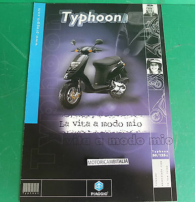 Piaggio Typhoon 50 125 Scooter Pubblicita Depliant Brochure Catalogue