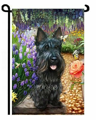 SCOTTIE and friends GARDEN FLAG Scottish Terrier Dog ART painting Brooke Faulder