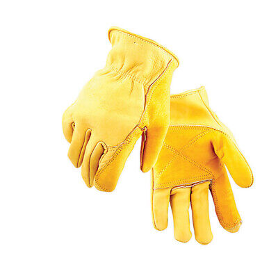 Golden Stag Driver Gloves Cowhide Large Rolled Gold Pack 1