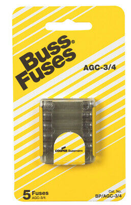 "Bussmann Fast Acting Fuse 0.75 Amp 250 V 4 "" X 1-1/4 "" Glass Tube"