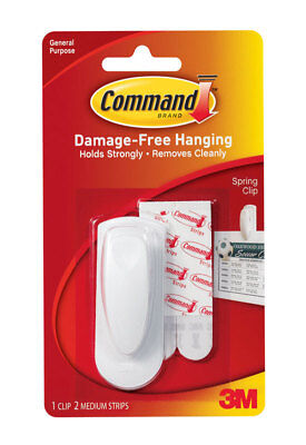 Command Spring Clip 1 Clip And 2 Adhesive Pack of 6