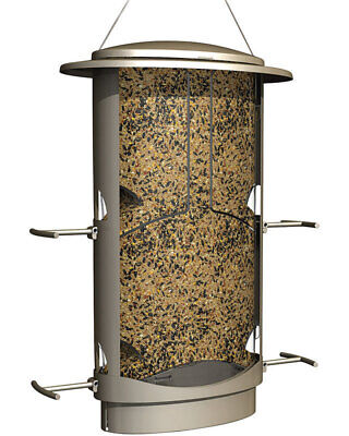More Birds Squirrel X-1 Bird Feeder Metal Satin Nickel Finish