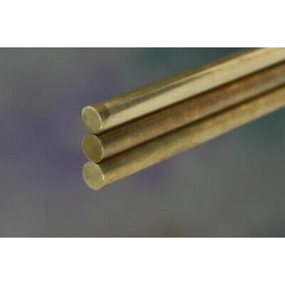 """K&S Solid Rod 3/32"""" D X 12"""" L Brass Carded 1 unit"""