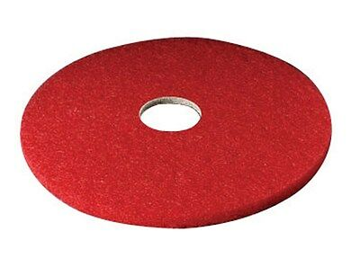 "3m Red Buffer Floor Pad 20 "" Dia 5100 Series Boxed Pack of 5"