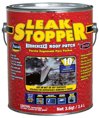 Leak Stopper Roof Patch 3.6 Qt 10 Yr Warranty Pack of 6