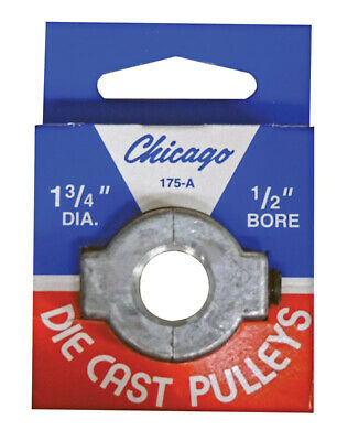 """Chicago Die Cast Single V Grooved Pulley A Belt w 1-3/4"""" Dia X 1/2"""" Bore Bulk"""