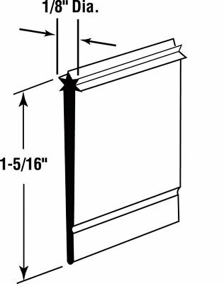 "Prime-Line Shower Door Bottom Seal 1-5/16"" 36"" L Star Bottom"