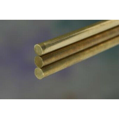 """K&S Solid Rod 1/8"""" D X 12"""" L Brass Carded"""