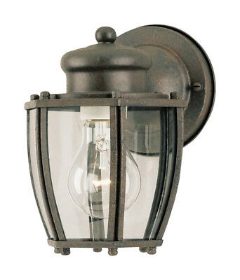 Westinghouse Outdoor Wall Lantern Fix A19 2-1/4 In. Textured Rust Patina Box Bx