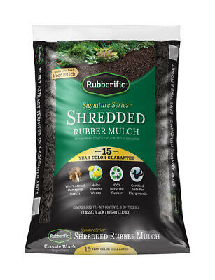 Rubberific Rubber Mulch Bagged Black