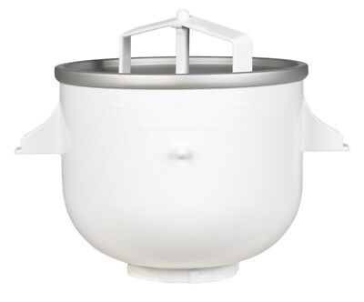 Kitchenaid Ice Cream Maker Attachment Fits Stand Mixers White 2 Qt. Capacity