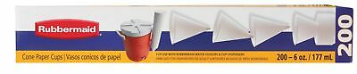 Rubbermaid Paper Cups 6 Oz 200 Cups