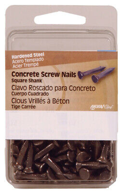 "Hillman Concrete Screw Nails 3/4 "" Square Steel Clamshell Pack of 5"